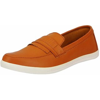 Fausto Men Tan Slip on Loafers