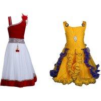 Crazeis Girls Party Wear Dress Combo
