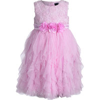 Baby Pink Girls Party Wear Dress
