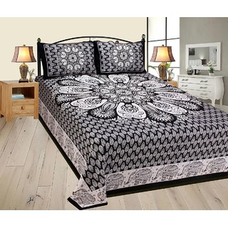 Volvo King Size Cotton Printed Bedsheet