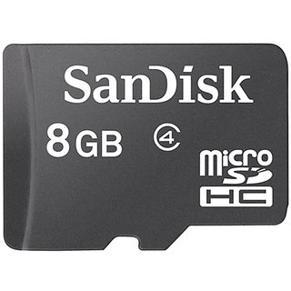 Sandisk 8Gb MicroSD card Class  4 available at ShopClues for Rs.299