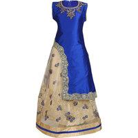 Crazeis Embroidered Girls Lehenga Choli And Dupatta Set
