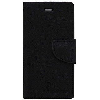 Mercury Wallet Flip Cover  Black for Redmi Note 4