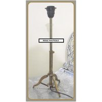 Antique Style Full Brass Lamp Stand Table Tripod Lamp In Brass Antique Beautiful