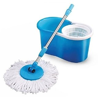 360 Magic Spin easy mop bucket for Fast Easy Home office Kitchen Cleaner + Free Aluma wallet