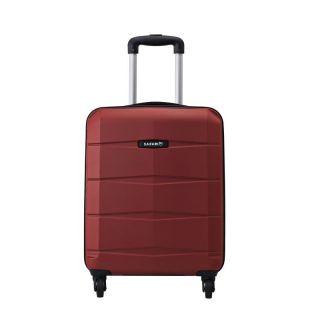 Safari RE-GLOSS-4 Wheel-55-RED-Antiscratch Unisex Hard Luggage Trolley Bag