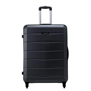 Safari RE-GLOSS-4 Wheel-75-BLACK-Antiscratch Unisex Hard Luggage Trolley Bag