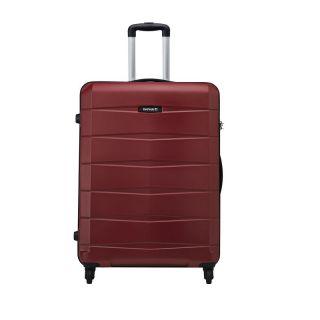 Safari RE-GLOSS-4 Wheel-75-RED-Antiscratch Unisex Hard Luggage Trolley Bag
