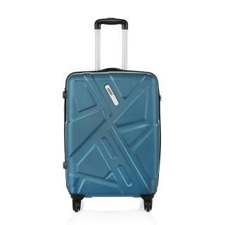 Safari Medium (Between 60-69 cms) Blue Polycarbonate 4 Wheels Trolley