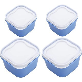 Your Choice Blue Everyday 4 Airtight / Microwave Safe Lunch Box BPA Free Food Container - 2400 ml 1400 ml 800 ml 40