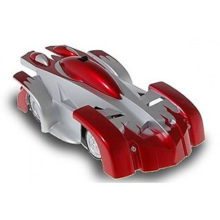 6th Dimensions Toys Wall Climber Car Radio Control Zero Gravity Wall Climbing RC Car (Red)
