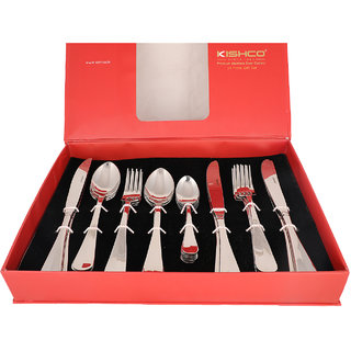 Kishco Stainless Steel Fiesta 24 Pcs Cutlery Set In Gift Box