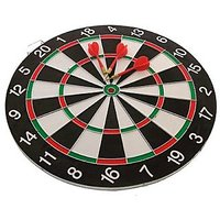 ALIG BRAND NEW BEST DOUBLE SIDE DART BOARD GAME SIZE 15 INCHES WITH 6 FREE DARTS