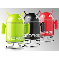 USB Android Robot Portable MP3 Player Micro SD Slot FM With In-built Speaker