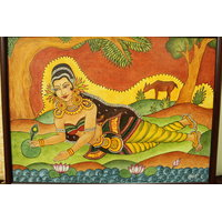Painting Of Shakunthala In Acrylic Will Decor And Enhance Your Home, Hotels Etc.