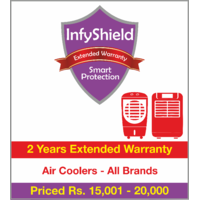 InfyShield 2 Yrs Extended Warranty on Air Coolers Priced Rs.15001 - 20000