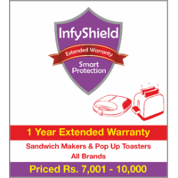 InfyShield 1 Yr Extended Warranty on Sandwich Makers & Pop Up Toasters Priced Rs.7001 - 10000