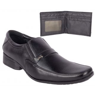 Jokatoo Mens Black Genuine Leather Formal Shoes