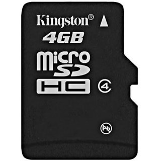 Kingston 4  GB MicroSD Card Class 4 4 MBS Memory Card available at ShopClues for Rs.269
