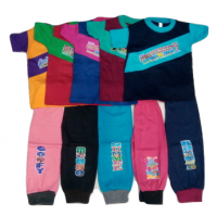 Multicolor Cotton Track Pant With Half Sleeves Cotton Tees Pack of 5 for Boys