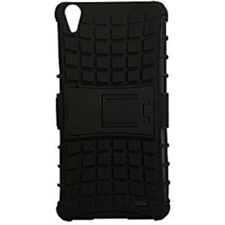Oppo A37 Defender Back Cover Defender Tough Hybrid Armour Shockproof Hard with Kick Stand Rugged Back Case Cover