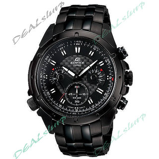 CASIO EDIFICE EF - 535 BK Completely Black Chronograph Men's Watch