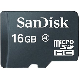 Sandisk 16  GB MicroSD Card Class 4 Memory Card available at ShopClues for Rs.389