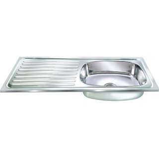 Orange Single Bowl Sink with DrainBoard 37x18x8 inch