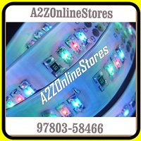 RGB LED Strip-5M-12V DC-With Separate LED/SMD(3528) For Each Color(True Colors)