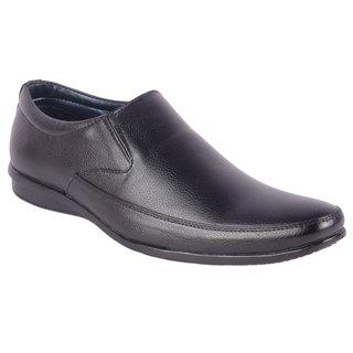 ShoeAdda Elegant Blaack Slip On Shoes 6103
