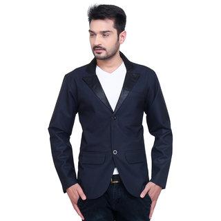 Abc Garments Dark Blue Casual Blazer