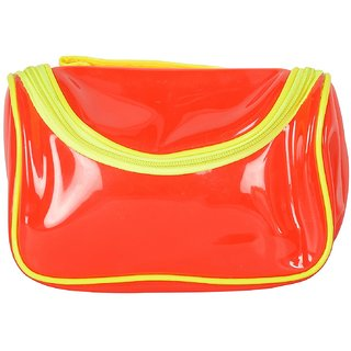 6th Dimensions Unisex Transparent Utility Bag (Red)