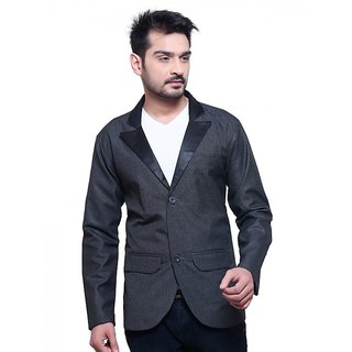 Abc Garments Dark Grey Casual Blazer