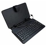 7 Inch Tablet Lather Case With Inbuilt Keyboard