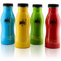 Mini Bottles - Set Of 4; Stainless Steel; Amazing Colors By Hot Muggs