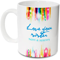 Love You Sister Ceramic Mug; 350ml; Gift For Your Sister; Hot Muggs