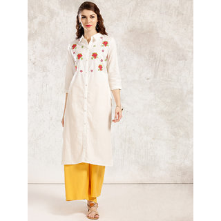 Style Amaze Designer  Off White Color Poly Cotton Dress Material-SASUNDAY-888