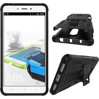 Redmi Note 4 Armor Defender Hybrid Kick stand Back Case Cover