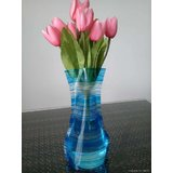 Plastic Vase With Attractive Design (Set Of 3 Pcs.)