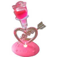 Heart Shape Crystal With Light Flashing And Music
