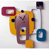 "Designer Abstract Clock 18"" X 18"""