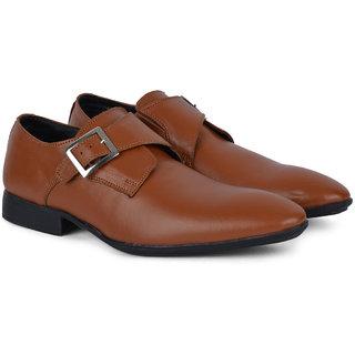 Ziraffe MADRID Tan Monk Formals Shoes