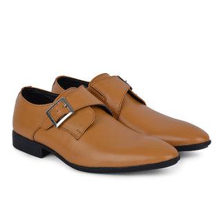 Ziraffe MADRID Mens Camel Monk Formals Shoes