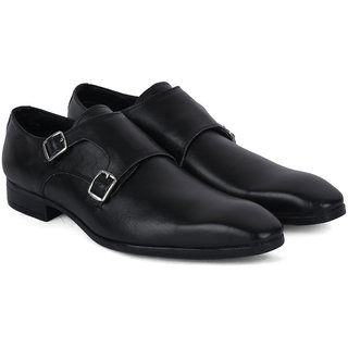 Ziraffe CAPARO Mens Double Monk Black Formals Shoes