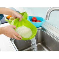 Plastic Clean fresh Rice Machine Vegetables basin wash rice sieve washer fruit bowl basket household kitchen good cookin