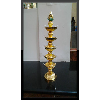Re-Buy 5 Layer-Electric Gold Diya Deepak Light lamp New Year Diwali Decoration