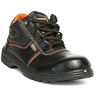 Safety Shoe Size8 Black available at ShopClues for Rs.490