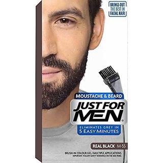 Just For Men Mustache Beard Hair Colour Real Black M-55