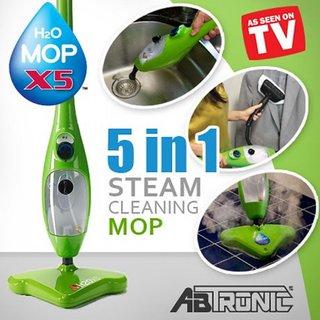 H2O X5 Steam Mop 5 In 1 Steam Cleaner Steamer + Free Mini Massager+Free Aluma wallet