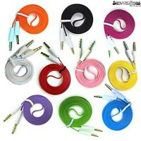 KSJ Long and Flat Aux Wire (Assorted Colors)